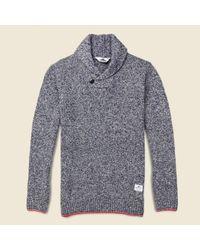 Penfield | Blue Harlington Knit Shawl Sweater - Navy Melange for Men | Lyst
