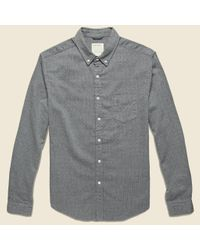 Life After Denim | Gray Denmark Shirt - Heather Charcoal for Men | Lyst
