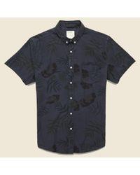 Life After Denim | Blue Botanical Shirt - Smog for Men | Lyst