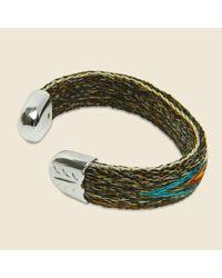 Chamula - Green Bendable Horsehair Bracelet - Brown/teal for Men - Lyst
