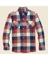 RRL - Multicolor Slim-fit Plaid Twill Workshirt for Men - Lyst