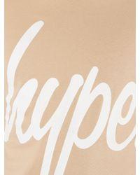 Hype - Natural Sand Script Logo T-shirt for Men - Lyst