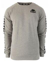 Kappa - Gray Grey Melange/black Authentic Hassan Slim Fit Sweatshirt for Men - Lyst