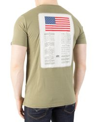 Alpha Industries - Green Olive Blood Chit T-shirt for Men - Lyst