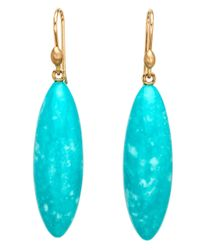 Ted Muehling - Blue Turquoise Long Berry Earrings - Lyst