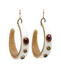 Ashley Pittman | Multicolor Idi Light Horn Earrings | Lyst
