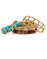 Ashley Pittman   Multicolor Chuma Light Horn Bangle Set   Lyst