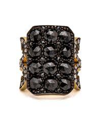 Sylva & Cie | Black Diamond 10 Table Ring | Lyst