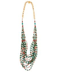Devon Leigh | Multicolor Turquoise And Red Beaded Multistrand Necklace | Lyst