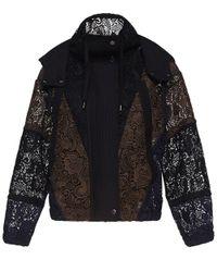 N°21 | Black Multicolored Lace Hooded Sport Jacket | Lyst