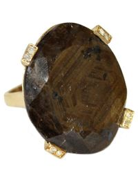 Meredith Marks | Elise Yellow Gold Brown Sapphire Ring | Lyst