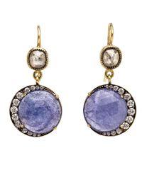 Sylva & Cie | Multicolor Diamond And Tanzanite Drop Earrings | Lyst