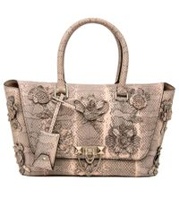 Valentino - Multicolor Light Rose Python Demilune Double Handle Bag - Lyst