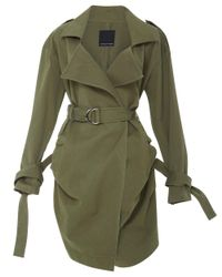 Marissa Webb | Green Allister Trench Coat | Lyst