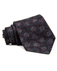 Kiton - Blue Aqua And Chocolate Squares Knit Tie for Men - Lyst