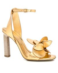 MERCEDES CASTILLO - Metallic Gold Tealia - Lyst