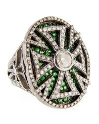 Loree Rodkin - Multicolor Oval Cutout Maltese Cross Ring - Lyst