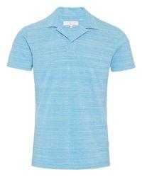 Orlebar Brown - Blue Azure Cloud Melange Felix Resort Polo for Men - Lyst