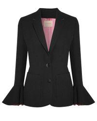 Roksanda - Black And Blossom Riva Bell Sleeve Blazer - Lyst
