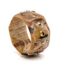 Ashley Pittman - Metallic Lipua Light Horn Bangle - Lyst