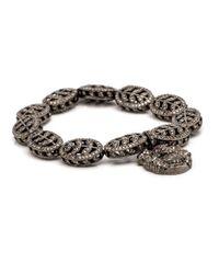 Loree Rodkin - Metallic Diamond Pave Leaf Bead Bracelet - Lyst