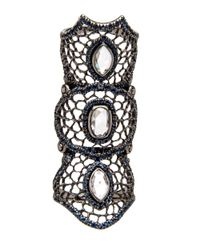 Loree Rodkin - Black Medium Spider Web Sapphire Bondage Ring - Lyst