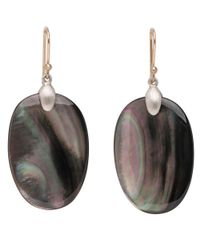 Ted Muehling - Metallic Silver Black Mother Of Pearl Large Chip Earrings - Lyst