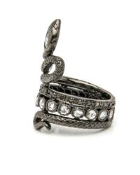 Loree Rodkin - Metallic Double Coiled Snake Ring - Lyst