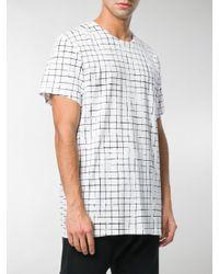 Haider Ackermann - White T-shirt Con Motivo A Quadri for Men - Lyst
