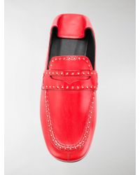 Isabel Marant - Red Fezzy Loafers - Lyst