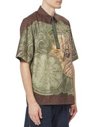Givenchy - Multicolor Printed Cotton Polo Shirt for Men - Lyst