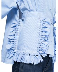 Ports 1961 - Blue Short Sleeves Shirt - Lyst