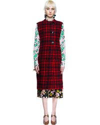Marni - Red Checked Wool Vest - Lyst