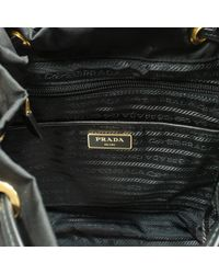 Prada - Black Robot Leather-trimmed Backpack - Lyst