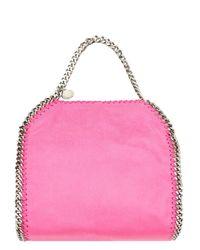 Stella McCartney   Pink Mini Falabella Faux Leather Tote Bag   Lyst
