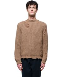 J.W.Anderson - Natural Wool And Alpaca Sweater for Men - Lyst