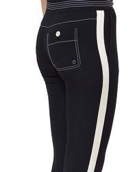 Chloé   Black Cady Three Quarter Length Trousers   Lyst