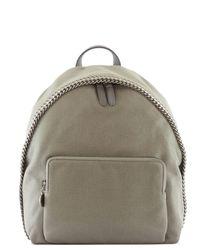 Stella McCartney | Gray Mini Falabella Shaggy Deer Backpack | Lyst