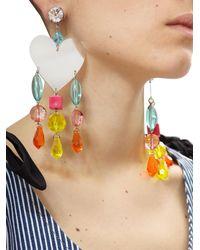 Miu Miu - Multicolor Heart Earrings - Lyst