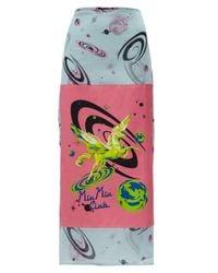 Miu Miu | Multicolor Cotton Pareo Skirt | Lyst