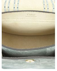 Chloé | Blue Mini Hudson Suede Shoulder Bag | Lyst