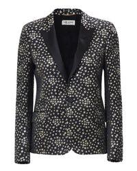 Saint Laurent | Metallic Star Print Jacket | Lyst