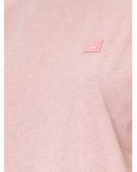 Acne Studios - Pink Standard Face Cotton Tee - Lyst
