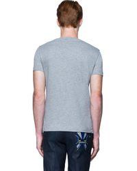 Fendi - Gray T-shirt With Eyes for Men - Lyst