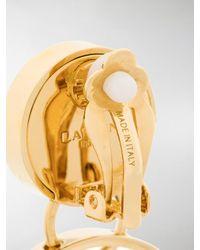 Lanvin - Multicolor Long Hoop Earrings - Lyst