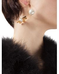 Simone Rocha - Metallic Floral Pearl Earrings - Lyst