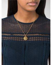 Versace - Metallic Mini Medusa Chain Necklace - Lyst