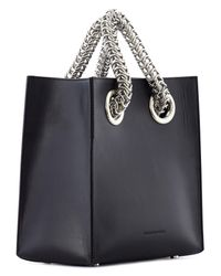 Alexander Wang - Black Genesis Metal Chain Strap Leather Tote - Lyst