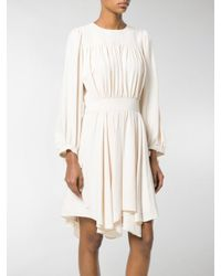 Chloé - Natural Flared Ruffled Dress - Lyst