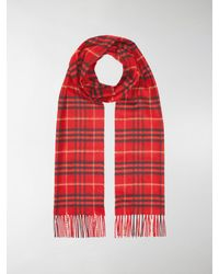 8cda40a9132a Lyst - Burberry Vintage Check Scarf in Red